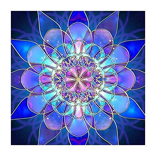 DIY 5D Full Drill Diamond Painting by Number Cross Stitch Diamond Mosaic Mandala Painting Handmade Kits Diamond Embroidery Painting Handmade Wall Painting Wall Art (FDM1016, L)