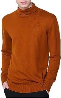 Macondoo Men's Basic Pullover Slim Turtleneck Jumper Knit Sweaters