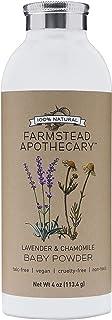 Farmstead Apothecary 100٪ پودر طبیعی کودک با نشاسته آلی تاپیوکا ، گلهای بابونه ارگانیک ، گلهای آلی ارگانیک ، اسطوخودوس و بابونه 4 اونس