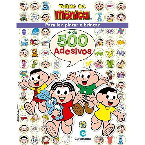 500 ADESIVOS TURMA DA MONICA