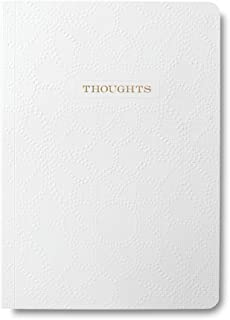 George Stanley Embossed White Soft Cover Journal With Gold Foil