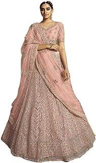 PINKKART Indiano/Pakistano Designer Musulmano Soft Net Lehenga Choli Dupatta Ghaghara Gonna Vestito 5256 a