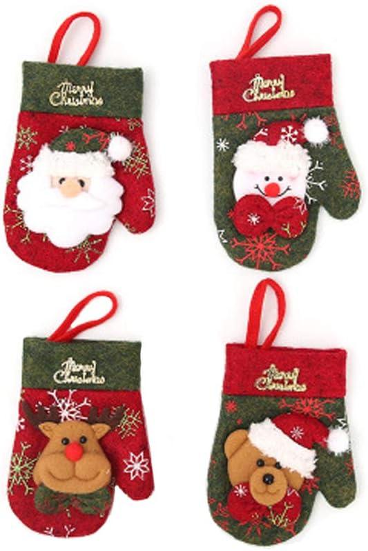 Overseas parallel import regular item 4PCS Christmas Santa Snowman Elk Branded goods Silverwar Bear Cover Fork Knife