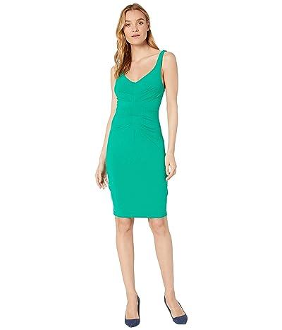 Susana Monaco Pleat Center Tank Dress (Emerald) Women