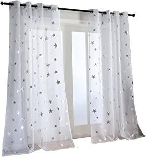 curtains with stars on