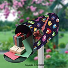 UHOO Angry Flying Birds Figure with Various Expressions Game Toy Mailbox Covers Magnetic Mailbox Wraps Patriotic Post Letter Box Cover Standard Oversize 17.7x20.47 Inch Garden Home Decor