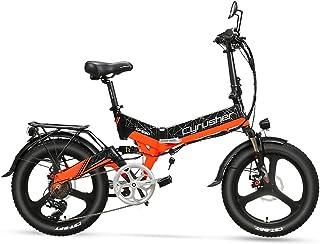 [日本在庫] XF590 折り畳み自転車 48V 10Ah 500Wモーター 公道走行可能 防犯登録可能自転車 自転車 保安部品付き (orange