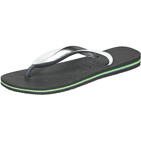 Havaianas Brasil Mix Unisex Adult's Flip Flops, BLACK/WHITE, 43/44 EU