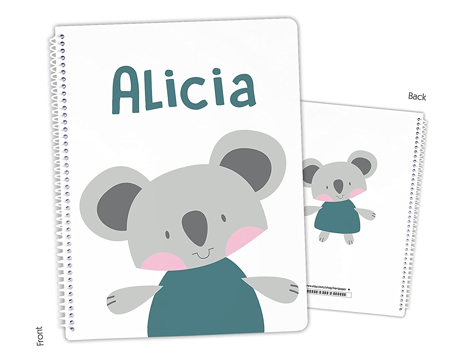 In stock Personalized Koala OFFicial mail order Bear Spiral Sketchbook Bound Notebook