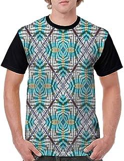 BlountDecor Loose T Shirt,Sketchy Garden Flowers Fashion Personality Customization