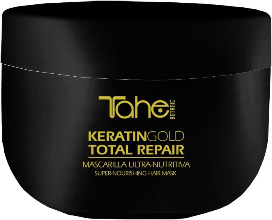 Tahe Botanic Mascarilla Total Repair Ultra-nutritiva/Mascarilla para el Pelo/Mascarilla para el Cabello con Keratina, Oro Líquido y Aceite de Argán, ...