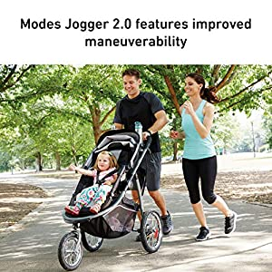 Graco Modes Jogger 2.0 Travel System | Includes Jogging Stroller and SnugRide SnugLock 35 LX Infant Car Seat, Haven