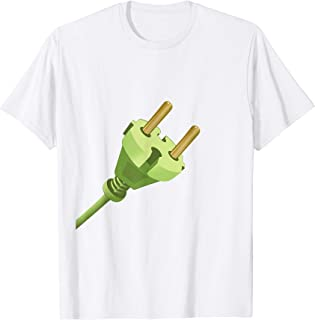 Charger & Outlet Plug & Socket Fun Couple Halloween costume T-Shirt