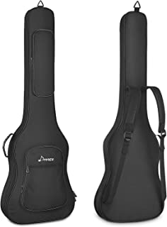 Donner 43 Inch Electric Bass Guitar Bag 12mm/0.5inch Thickness Backpack Soft Solid Electric Bass Guitar Case with Adjustable Straps, Water-Resistant Nonwovens Interior Thicken Sponge Pad, Black