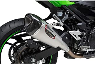 YOSHIMURA 14710BP520 Street Alpha T Stainless Slip-on for 2018 Kawasaki Ninja 400, 14710BP520