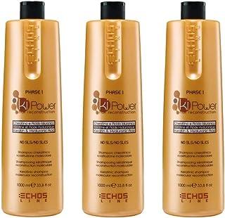 3X Echosline Ki-Power Phase 1 - Shampoo Cheratinico Ricostruzione Molecolare 1000 ml