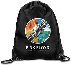 Pink Floyd I Wish You Were Here Drawstring Backpack Bag White
