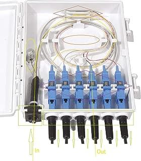 FirstFiber FTTH 6 cores Fiber Termination Box 6 Port 6 Channel Splitter Box Indoor Outdoor Fiber Optical Splitter Box FTB ABS Fiber Distribution Box