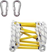 8 pies Compacta y Ligera Capacidad de Peso de Hasta 900 kg Reutilizable ISOP Escalera de Emergencia Contra Incendios de 2,5 m Escalera de Seguridad Resistente a las Llamas con Ganchos