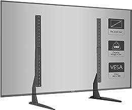BONTEC Universal Soporte para TV, Pedestal de TV para Television LCD LED Plasma Plano 22-65 Pulgadas, Peanas para TV Carga Máx. 50 kg - VESA Máx. 800x400mm