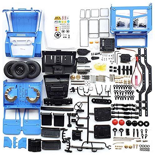 AKDSteel W-PL C34KM 1/16 Metal Edition Kit 4WD 2,4G Buggy Crawler Offroad RC Auto 2CH Fahrzeugmodelle mit Scheinwerfer (einschließlich elektronischer Komponenten) Blau-Spielzeug Geschenk