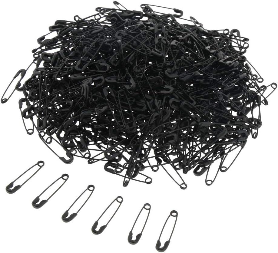 500PCS 18mm Noir 1000x Nickel/ées Plaqu/ées Or Noir 18mm /Épingles De S/ûret/é /à Aiguille En M/étal 500 22mm