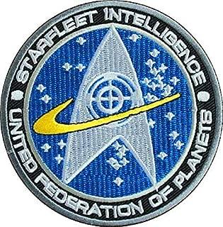 Star Trek TNG Starfleet Command United Federation of Planets Starfleet Intelligence Military Hook Loop Tactics Morale Embroidered Patch