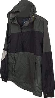 UNDER ARMOUR UAS Men's Army Green/Navy 1/4 Anorak L/S Pullover Nylon Hoodie Jacket Medium