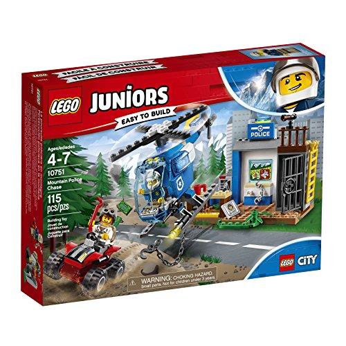 Ensemble de Construction LEGO Juniors La Poursuite Policière en Montagne (115 pièces) 10751 - 5