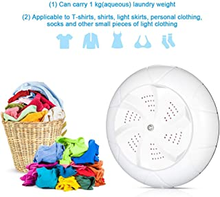 Prakal 3 in1 Mini Washing Machine Portable Personal Rotating Ultrasonic Turbine Washer Adjustable with USB Cable Convenient