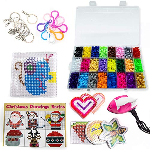 Fuse Beads Kit - Create Colorful, Melty Bead Art Patterns - Includes Iron for...