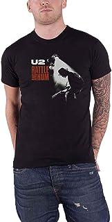 U2 T Shirt Rattle & Hum Album Cover Band Logo 新しい 公式 メンズ