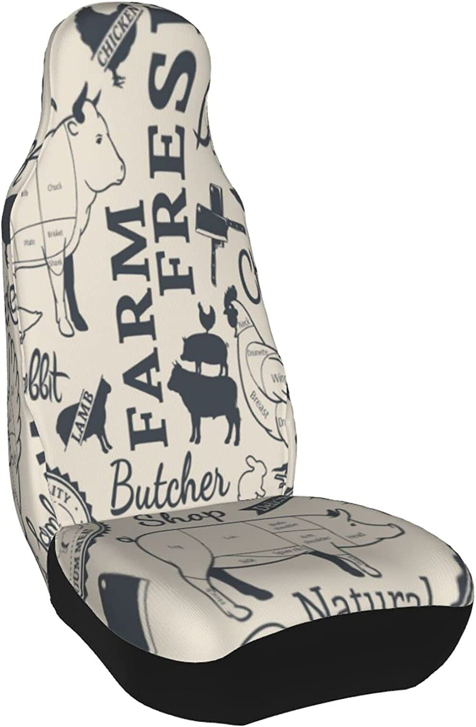 Farm Animals Car trend rank San Francisco Mall Seat Cover 1 PC Chicken Meat Pig Food Cow Sheep