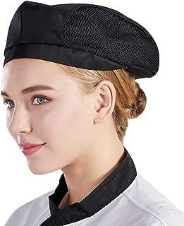 Chef Boina Plana Pastelería Baker Cocina Verano Mesh Cooking Works Uniformes Gorro Chef para Adultos CF9021