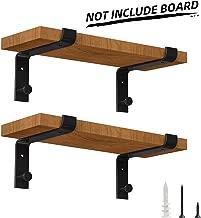 farmhouse metal shelf brackets