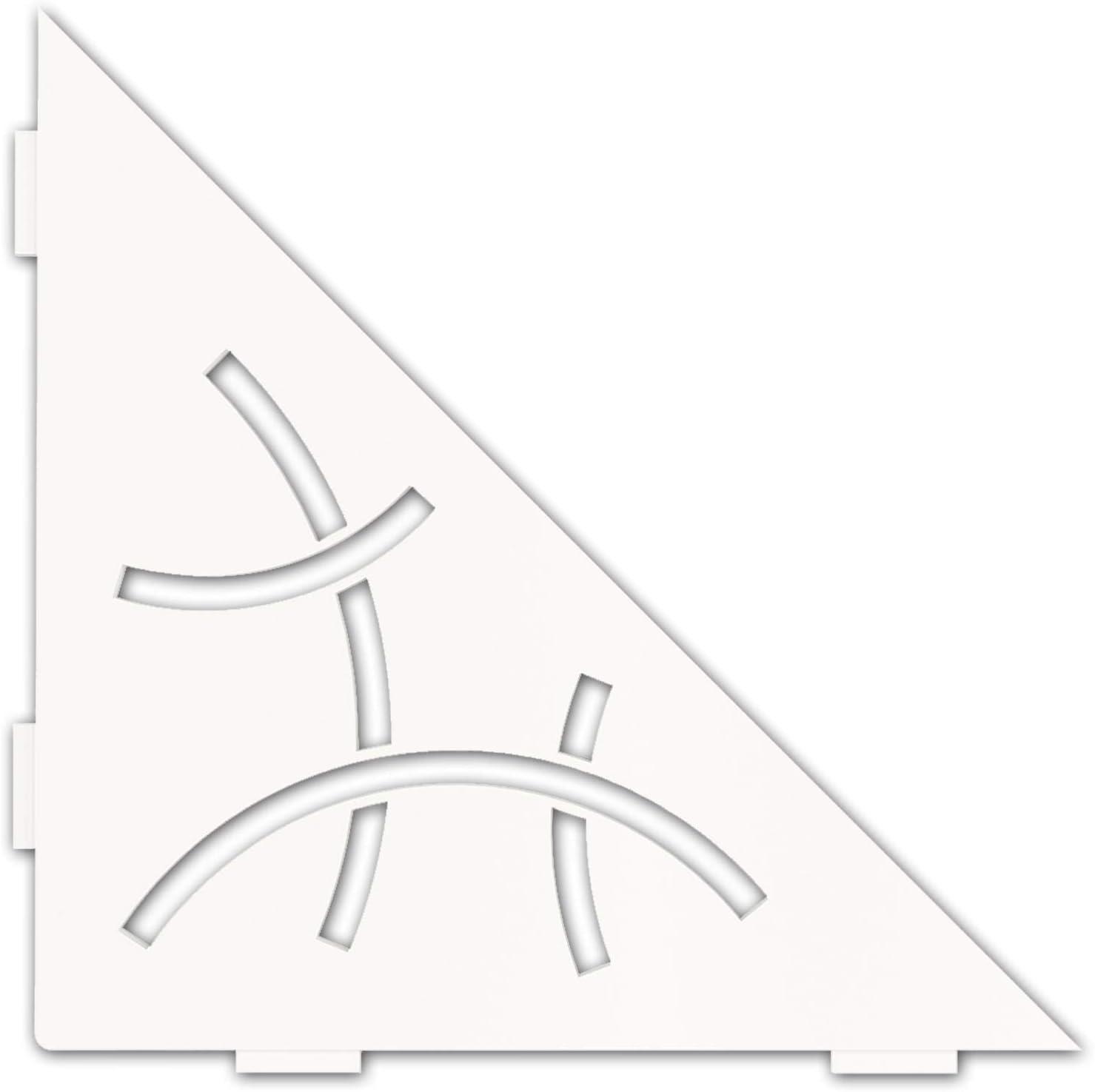 Schluter Systems Triangular Corner Shelf-E New item -Matte Store Design Curve -