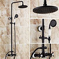 LightInTheBox Antique Tub And Shower Rain Shower / Handshower Included with Ceramic Valve Two Handles Three Holes for Oil-rubbed Bronze   Shower