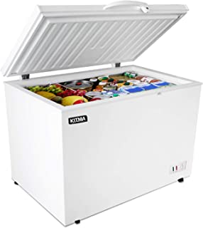 Commercial Top Chest Freezer - Kitma 15.9 Cu. Ft Deep Ice Cream Freezer with 2 Storage Baskets, Adjustable Thermostat, Loc...