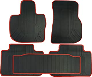Autotech Zone Custom Fit Heavy Duty Custom Fit Car Floor Mat for 2004-2010 BMW X3 SUV All Weather Protector 4 Pieces Set Grey and Black