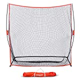 GoSports Golf Practice Hitting Net | Huge 7' x 7' Personal Driving Range for Indoor or Outdoor Swing Practice | Designed by Golfers for Golfers (Renewed)
