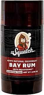 Sponsored Ad - Dr. Squatch Natural Deodorant for Men – Odor-Squatching Men's Deodorant Aluminum Free - Bay Rum 2.65 oz (1 ...