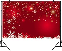 DULUDA 7X5FT Christmas Red Winter Snowflackes Photography Backdrops Customized Photo Background Studio Prop WXL45
