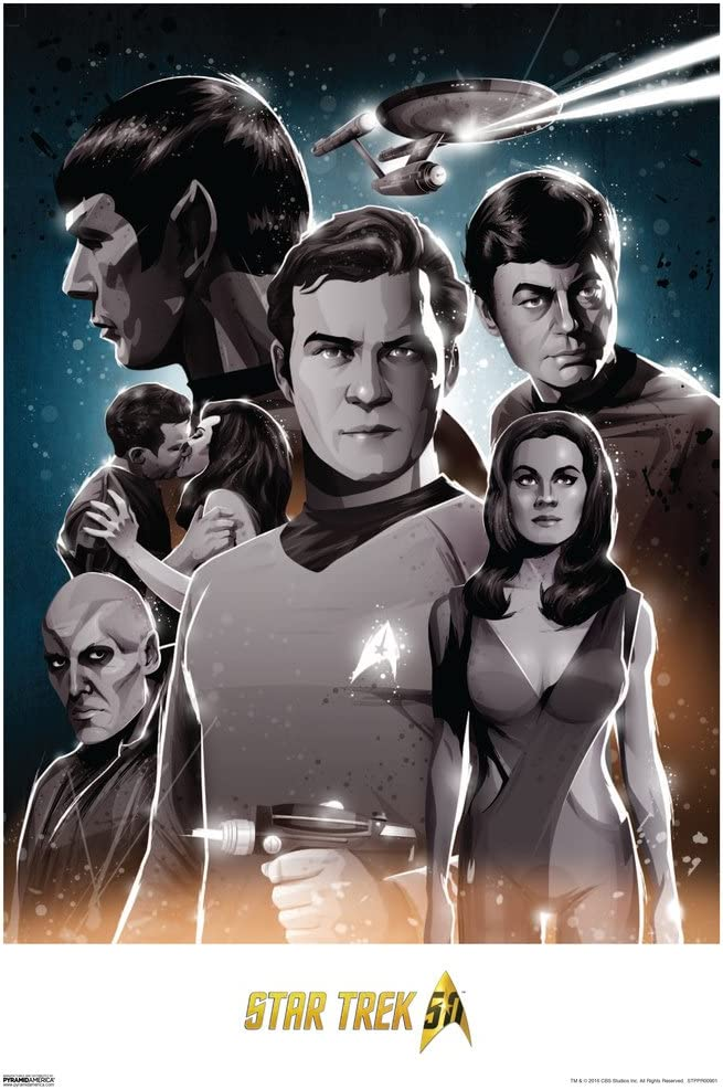 Pyramid America Star Trek Original Trek 50th Anniversary TV Show Cool Wall Decor Art Print Poster 13x19