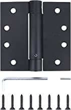 Pack of 3 - Residential Spring 4 Inch Door Hinge - Reversible - Black Finish - Squared Corners - Self Closing - by Dependable Direct