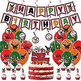 SHLMO Bing Bunny Motto Geburtstag Party Deko Set Ziehen Fahne Flagge Spiralballon Kinder Geburtstag Party Dekoration