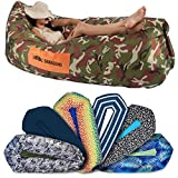 Chillbo Shwaggins Inflatable Couch – Cool Inflatable Chair. Upgrade Your Camping Accessories. Easy Setup is Perfect for Hiking Gear, Beach Chair and Music Festivals. (Camo Green)