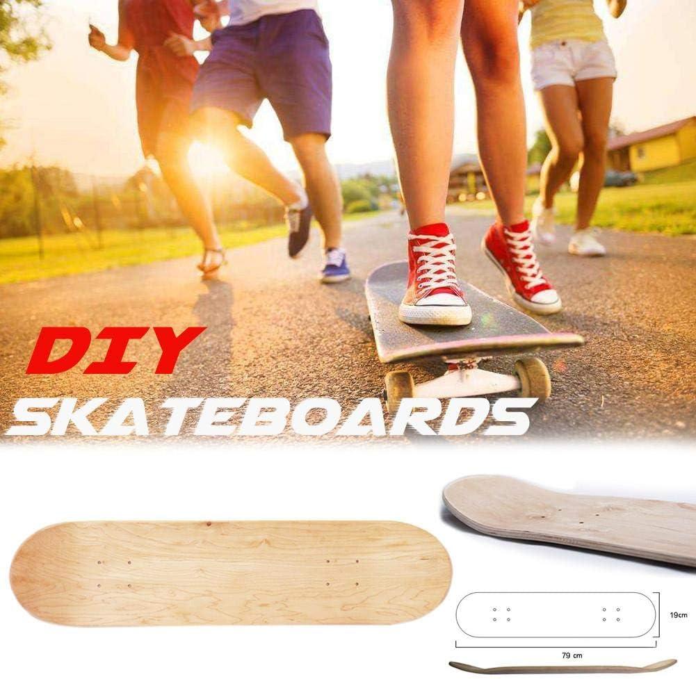 Outdoor Recreation Whewer Skateboard Deck 8inch 8-Layer Maple ...