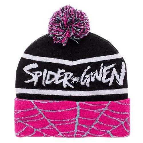 fe6f035107c Bioworld Spiderman Spider Gwen Cuff Pom Beanie Winter Hat
