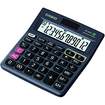 Casio MJ-120D 150 Steps Check and Correct Desktop Calculator with Tax Keys