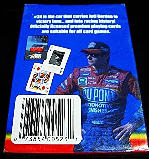 Vintage NASCAR 2000 Jeff Gordon Officially Licensed J G Motorsports BICYCLE Playing Cards-New in Factory Sealed Pkg